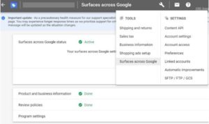 google shopping gratis instellen